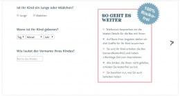 Fragebogen auf der Website von KINDHOCHDREI